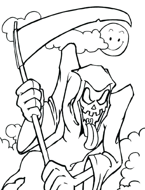 581x763 Scary Halloween Coloring Pages Scary Coloring Pictures Scary