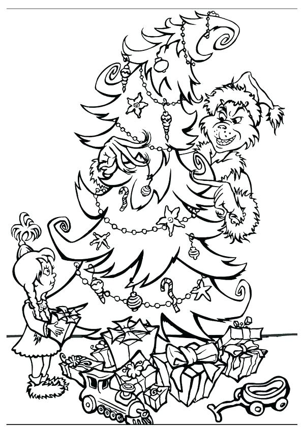 600x842 Grinch Coloring Pages The Coloring Page How The Stole Coloring