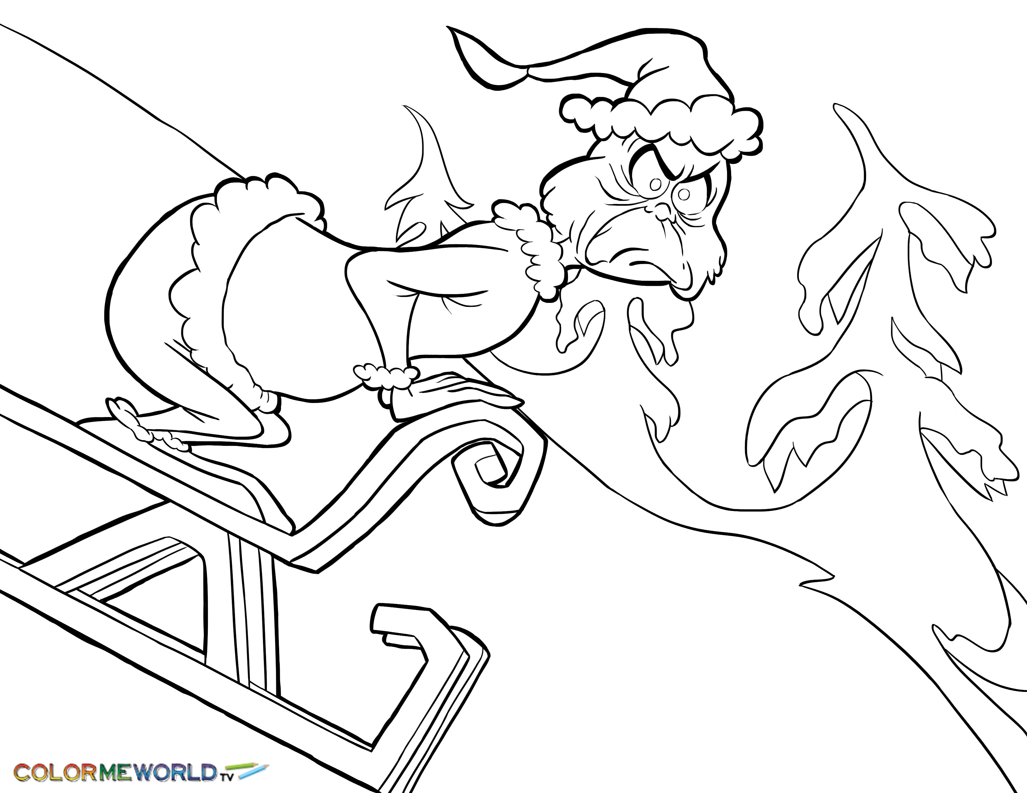 3300x2550 The Grinch Stole Christmas Coloring Pages In How