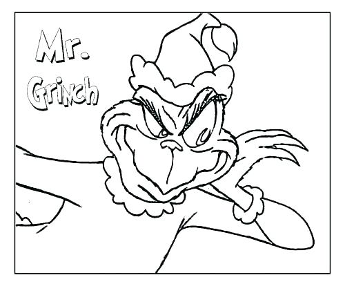500x411 Grinch Coloring Pages Coloring Page Coloring Pages