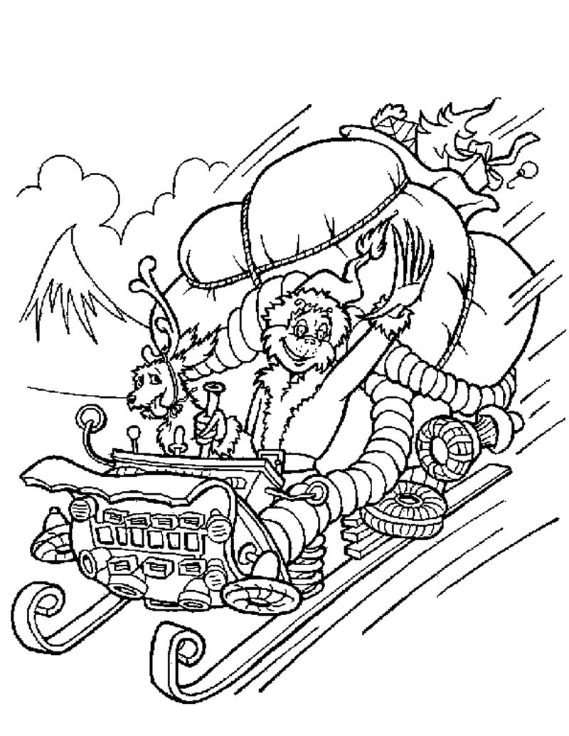 800x1034 Grinch Stole Christmas Printable Coloring Pages Free Draw To Color