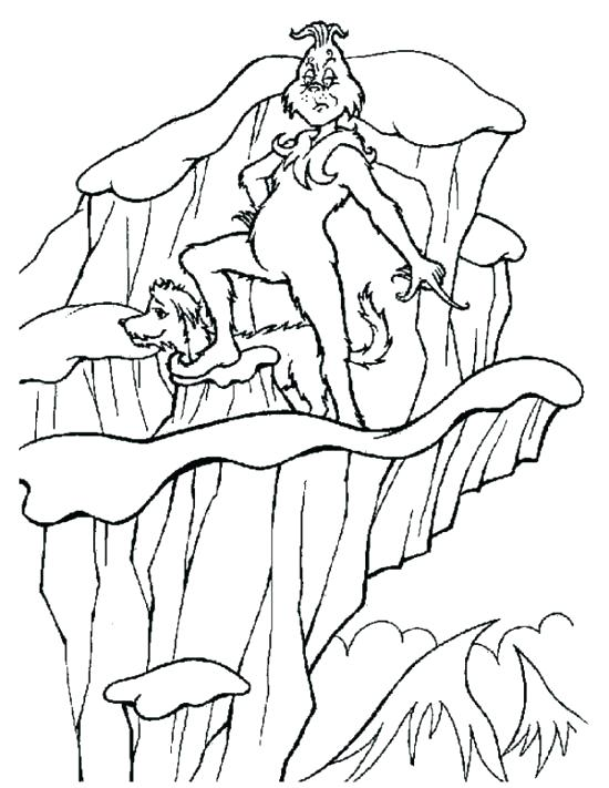 550x711 The Grinch Coloring The Coloring Pages Free Printable Coloring