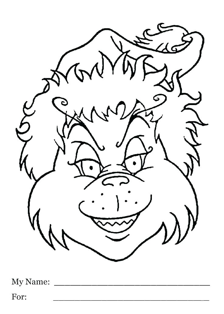 736x1031 Grinch Color Pages Kids Coloring Free Grinch Coloring Sheets