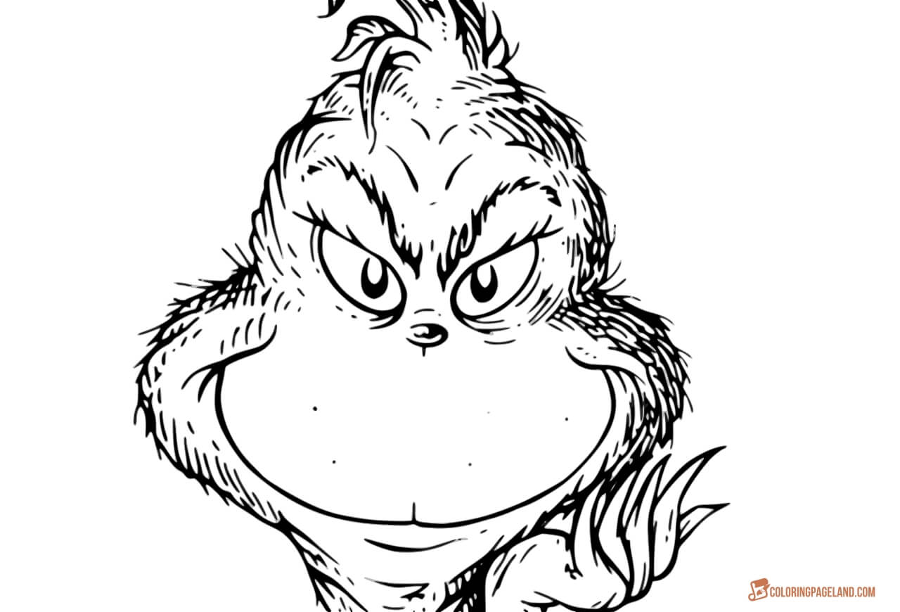 Grinch Face Coloring Pages at GetDrawings | Free download