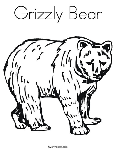 468x605 Grizzly Bear Coloring Page