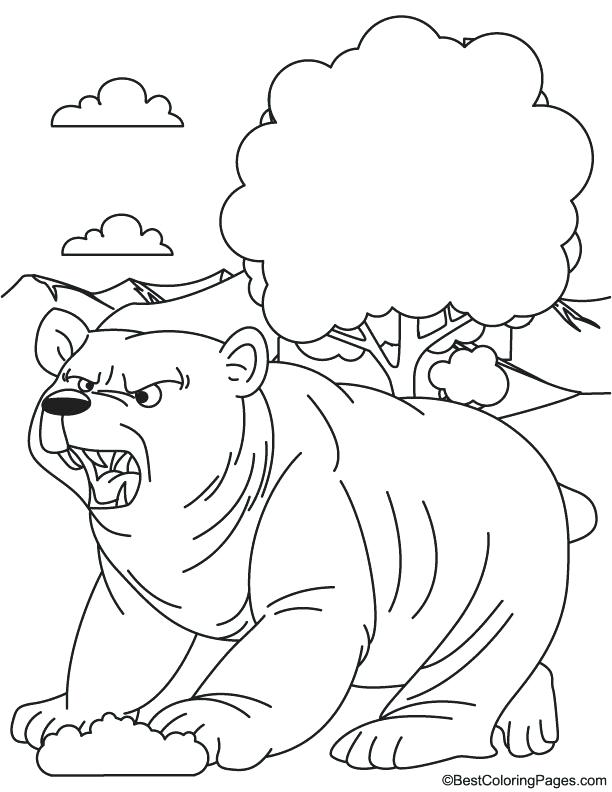 612x792 Grizzly Bear Coloring Pages Grizzly Bear Coloring Page Realistic