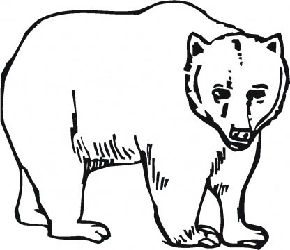 416x360 Printable Grizzly Bear Coloring Page For Kidz
