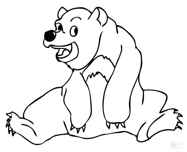 618x504 Brown Bear Printables Grizzly Bear Coloring Pages Packed With Bear