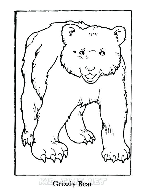 612x792 Grizzly Bear Coloring Page Grizzly Bear Coloring Pages California