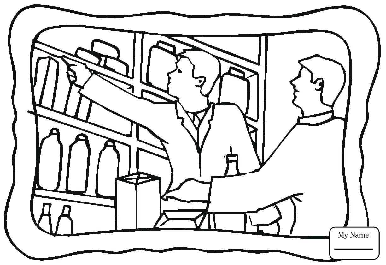 1224x839 Printable Milk Carton Coloring Page Home Housework Regular Grocery