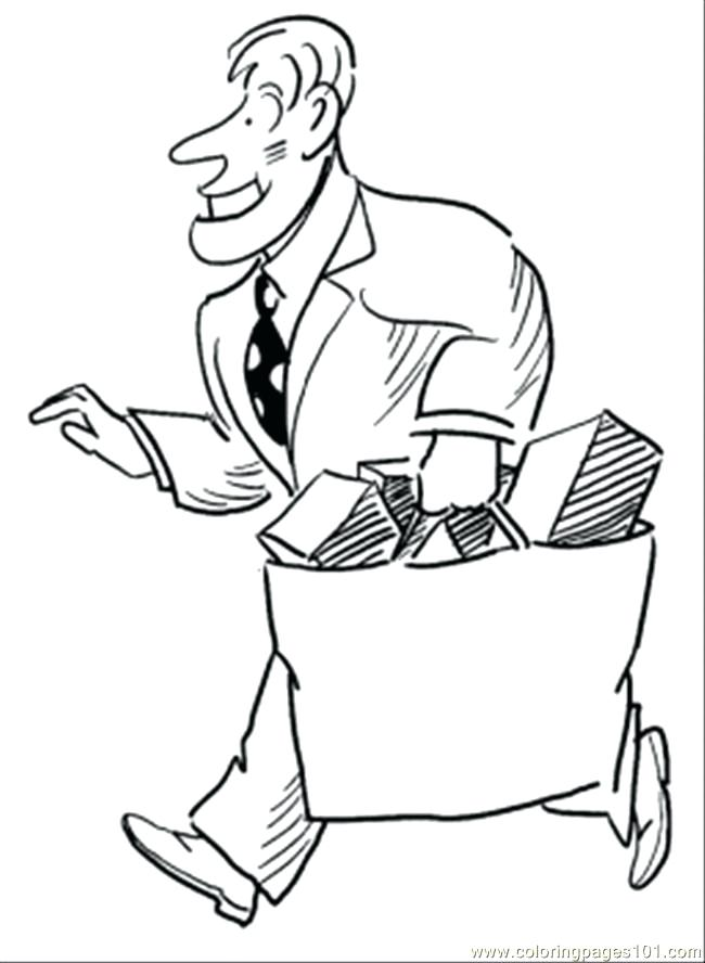 650x888 Shopping Coloring Pages Man Runs From Shopping Mall Coloring Page