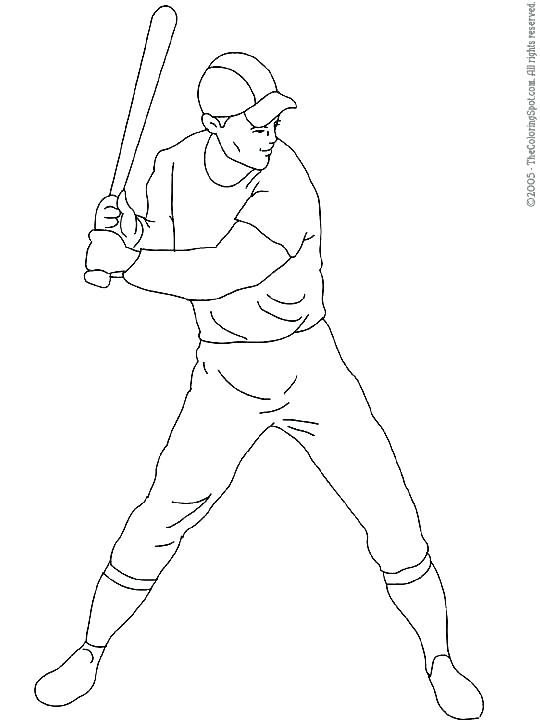 540x720 Store Coloring Page Baseball Player Coloring Pages Then You Should