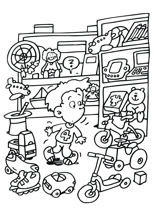 530x750 Store Coloring Page Grocery Store Colouring Pages