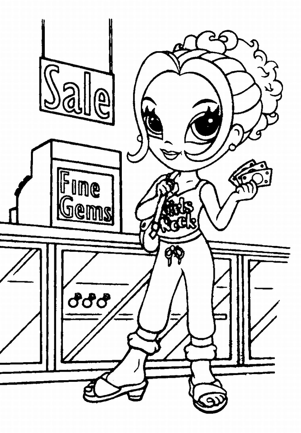 981x1412 Coloring Shopping Coloring Pages