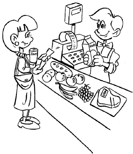 441x512 Supermarket Coloring Pages