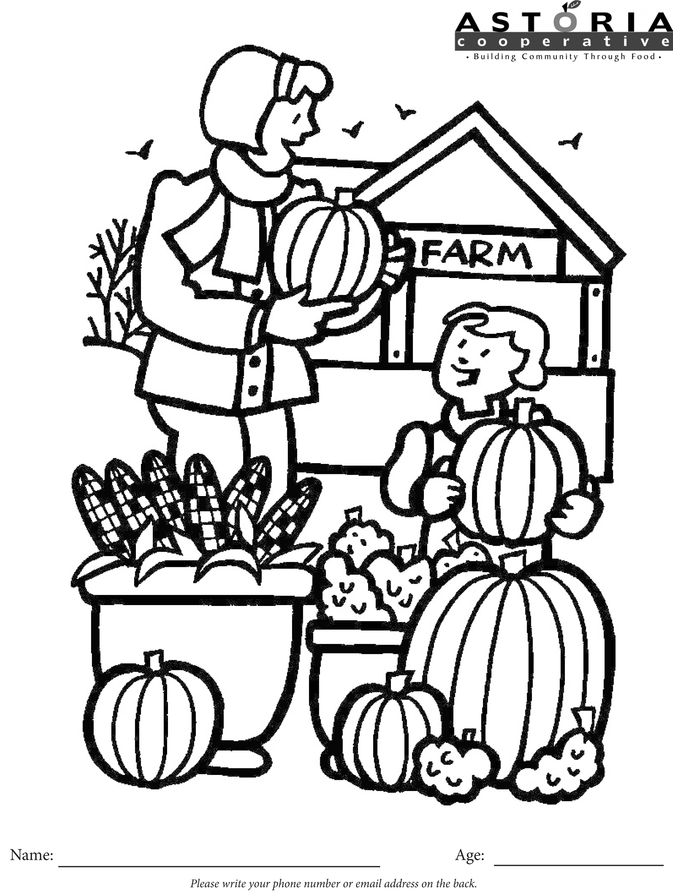 2348x3116 Halloween Coloring Contest Astoria Co Op Grocery