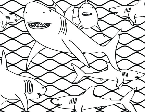 595x460 Miniature Masterminds Shark Frenzy Coloring Page Grocery Store