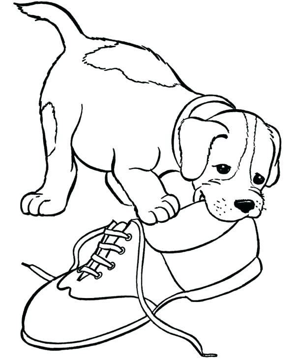 600x734 Coloring Page Of Puppies Puppy Printable Coloring Sheets Coloring