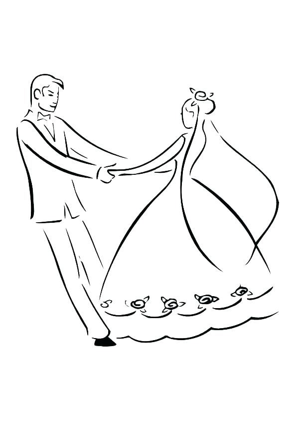 600x851 Bride And Groom Colouring Pages Coloring Wedding Best Coloring