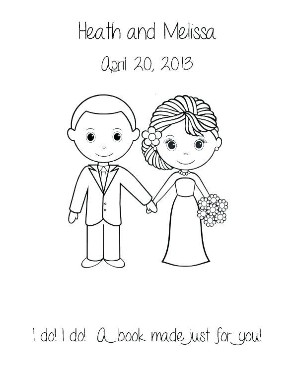 590x764 Bride And Groom Coloring Page Bride And Groom Colori Page Bride