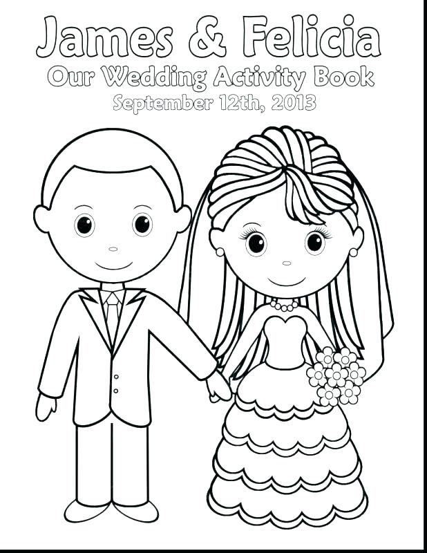 618x800 Dress Coloring Page Bride And Groom Coloring Page Free Printable