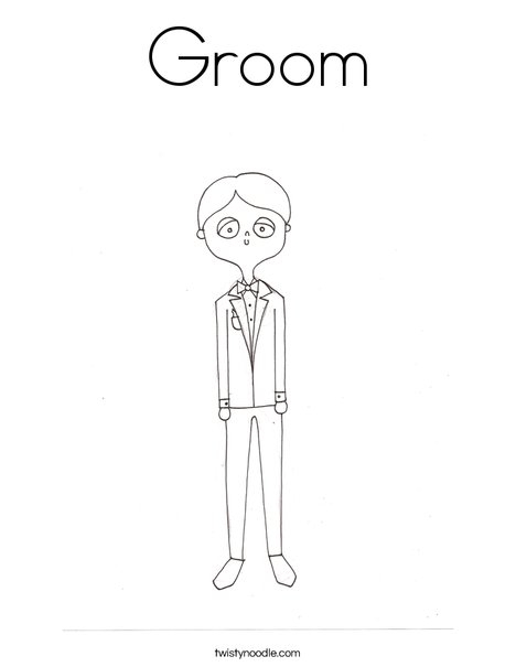 468x605 Groom Coloring Page