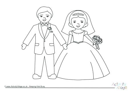 460x325 Bride And Groom Coloring Pages Bride And Groom Colouring Page