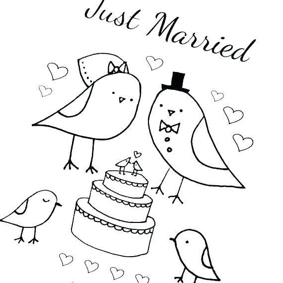 570x570 Bride And Groom Coloring Pages Free Printable Bride And Groom