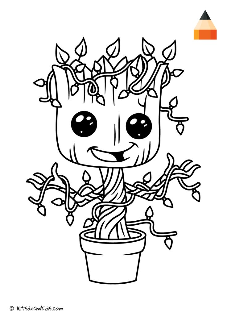 Groot Coloring Pages