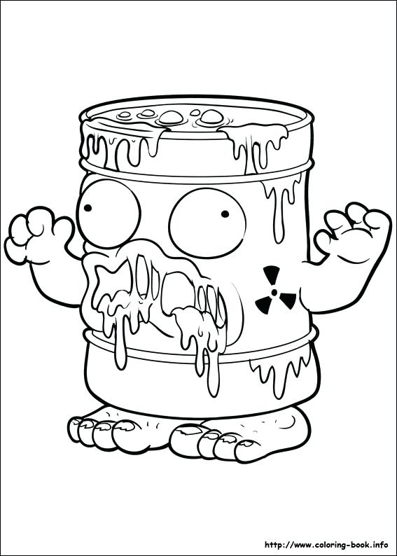 567x794 Ideas Grossery Gang Coloring Pages For Last Updated Trash Pack