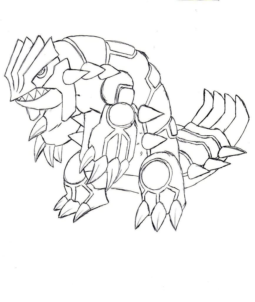867x1024 Groudon Coloring Page Page
