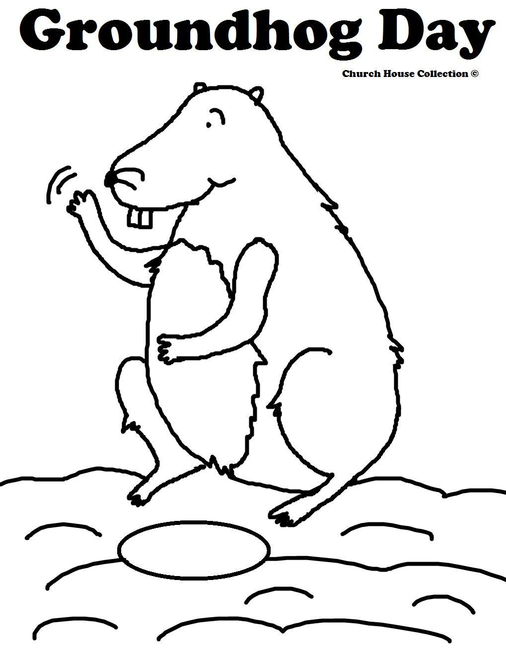 Groundhog Coloring Pages Preschool At Getdrawings Com Free For