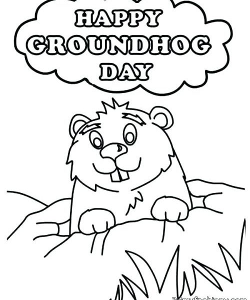 500x600 Groundhog Day Coloring Page Groundhog Day Coloring Pages Happy