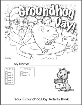 273x350 Groundhog Day Coloring Pages