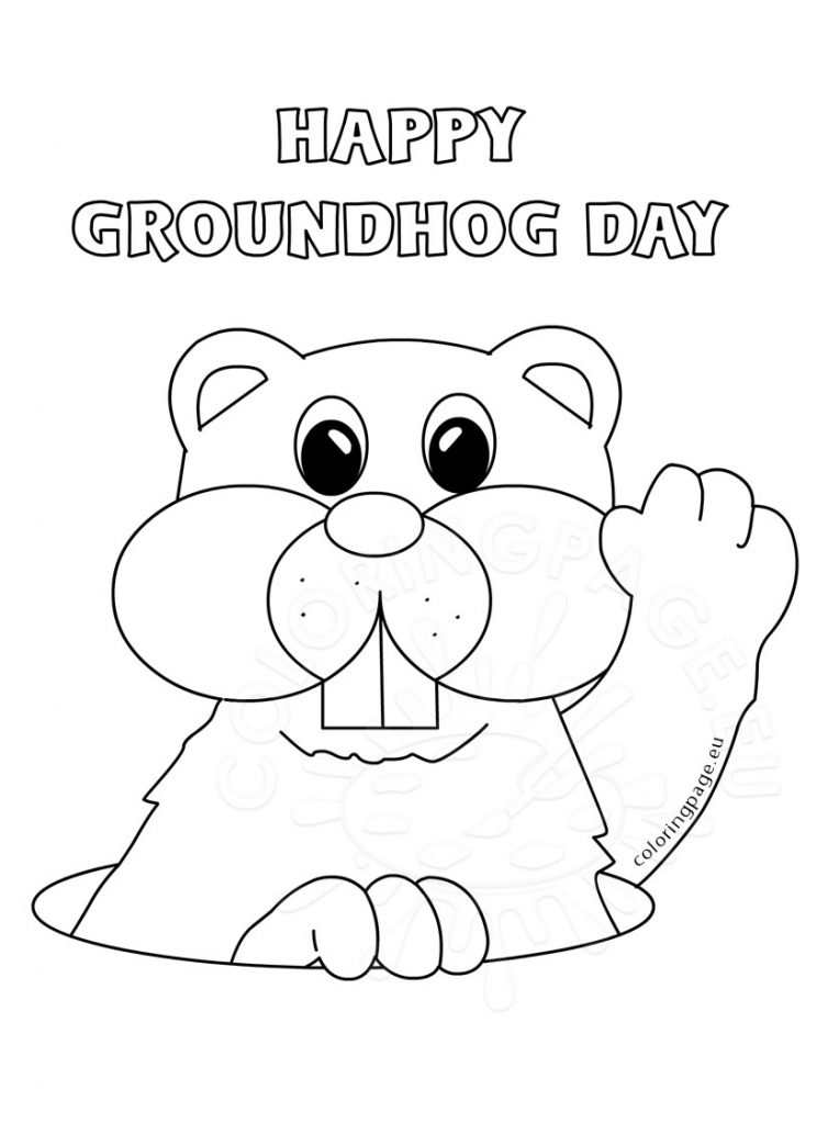 754x1024 Groundhog Day Coloring Pages