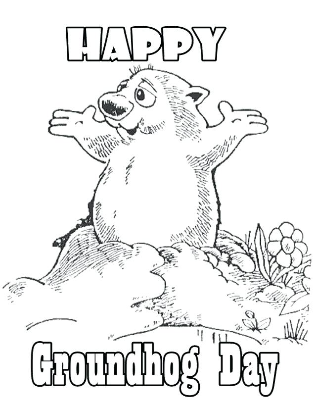 643x820 Groundhog Coloring Sheets Groundhog Day Coloring Pages Groundhog