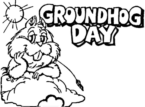 480x354 Groundhog Day Coloring Pages Groundhog Day Coloring Page Free