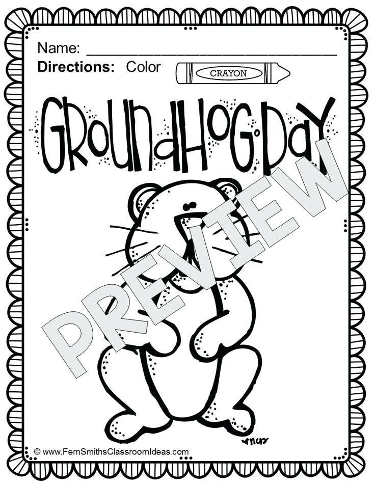 736x952 Groundhog Day Coloring Pages Groundhog Day Coloring Pages