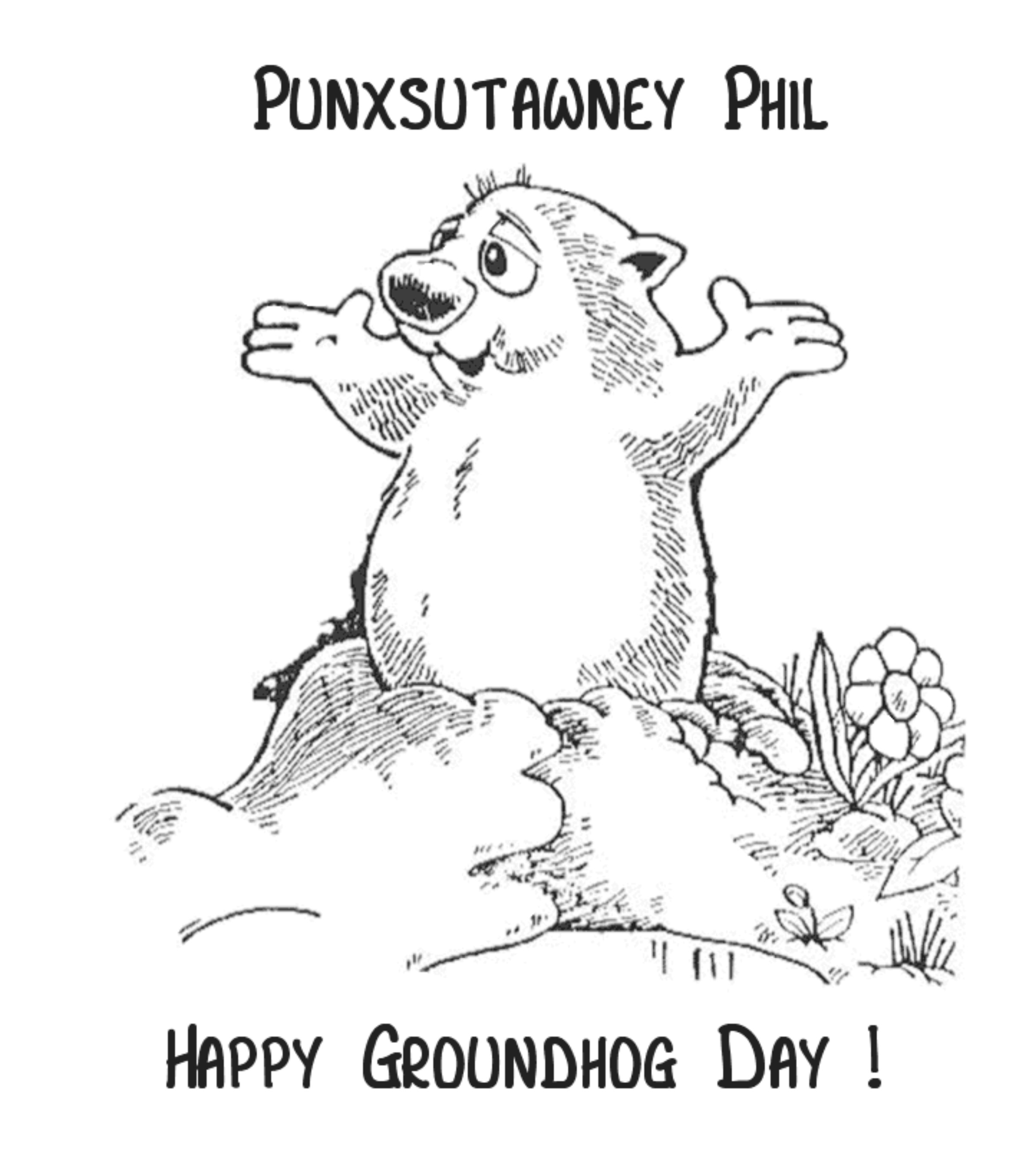 2400x2731 Simple Groundhog Day Coloring Pages Free Printable Best