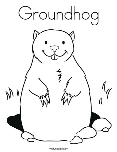 468x605 Groundhog Coloring Pages Groundhog Coloring Page Animal Groundhog