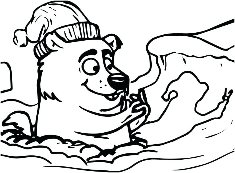 827x609 Groundhog Coloring Pages Happy Groundhog Day Groundhog Day