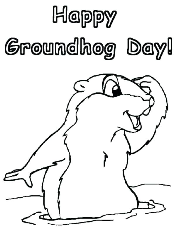 600x840 Groundhog Coloring Pages Here Are Groundhog Coloring Page Pictures