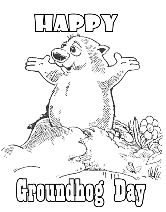 643x820 Groundhog Day Coloring Pages