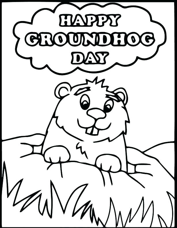 615x792 Groundhog Day Coloring Pages For Kids Free Groundhog Day Coloring