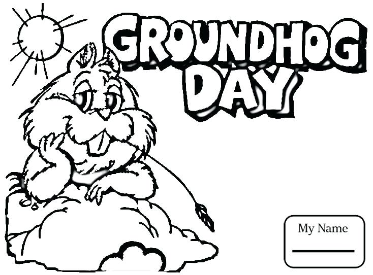 734x542 Groundhog Day Coloring Pages Groundhog Coloring Pages Groundhog