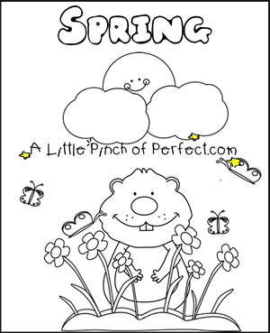 300x369 Groundhog Day Free Printables + Coloring Pages