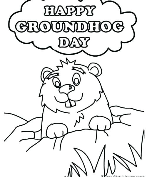500x600 Groundhog Day Coloring Pages Icontent
