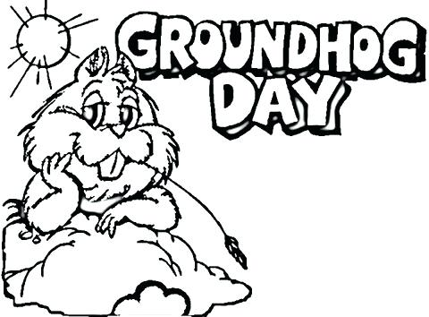480x354 Ground Hog Coloring Pages Groundhog Day Is Being Hold In Belly