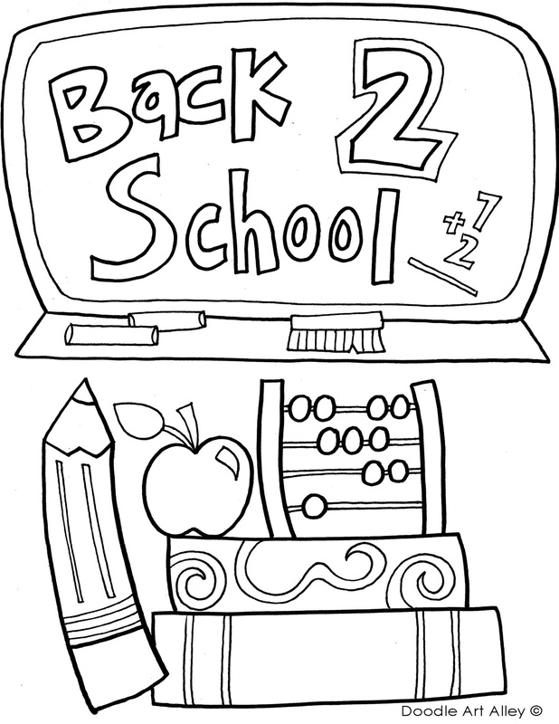 618x800 First Day Of School Coloring Page Free