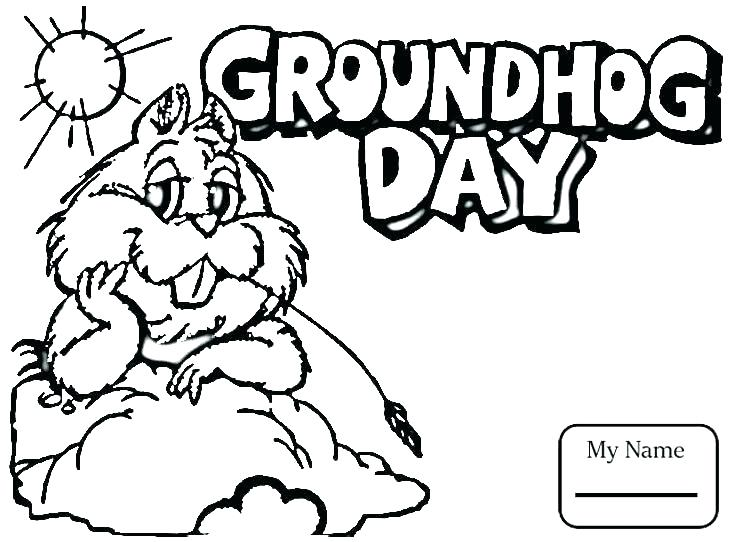 Groundhog Day Free Coloring Pages At Getdrawings Com Free For